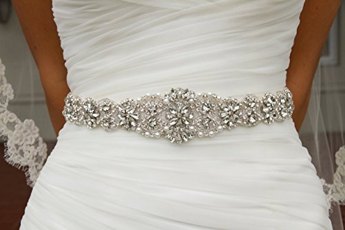 Wedding Sash Ivory ~Bridal Sash, Wedding Sash Rhinestone, Wedding Sash Belt, Rhinestone Belt, Rhinestone Wedding Belt, Champagne Sash, Beaded Sash, Pearl Belt ~M99