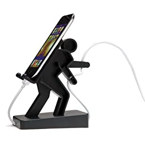 Boris Cell Mate Mobile Phone Mount Stand Music Player Holder - Black (Charcoal)