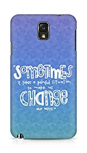 AMEZ painful situation change us Back Cover For Samsung Galaxy Note 3