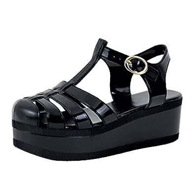 Amazon.com: Womens Platform Sandals Jelly Adjustable Strap
