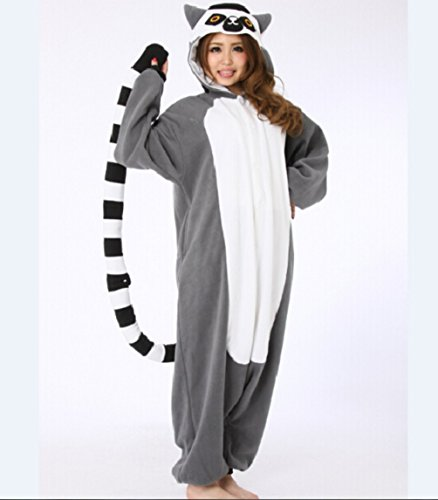 Animal Lemur Long Tail Monkey Unisex Women Men's Pajamas