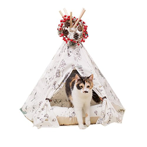Free Love New Dog Cat Tent Pet Kennels Pet Play House Dog