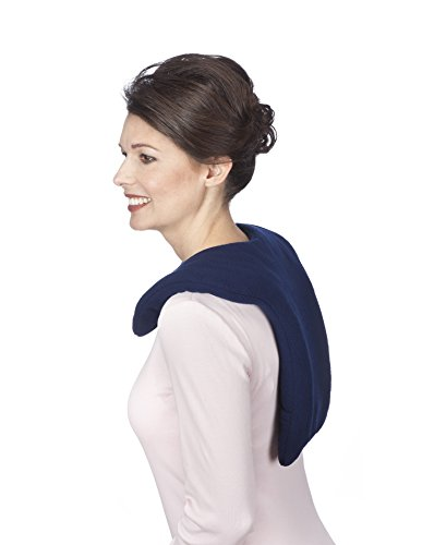 Sunny Bay Microwave Shoulder and Upper Back Heat Wrap, Large (navy blue) (Microwavable Shoulder Heating Pad compare prices)