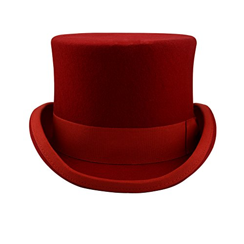 Tara 2015 Premium 100% Wool Victorian Mad Hatter Top Hat