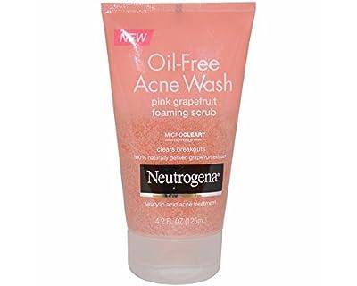 Neutrogena Oil-Free Acne Wash Foaming Scrub, Pink Grapefruit, 4.2 fl oz