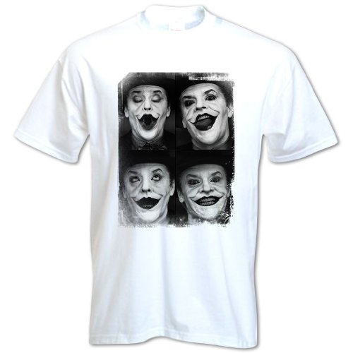 Bang Tidy Clothing Men'S Jack Nicholson Joker T Shirt White M