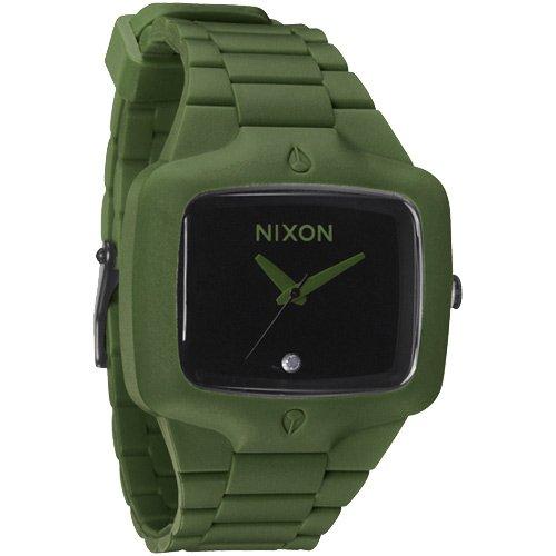 Nixon watch Nixon The Rubber Player Watch Surplus Green Black
