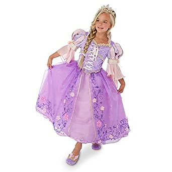 Disney Store Limited Edition Deluxe Tangled Rapunzel Costume for Girls