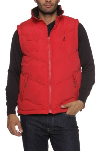 Geographical Norway Expedition Gilet VAGON, Color: Red, Size: S