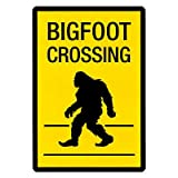 (13x19) Bigfoot Crossing Sign Art Poster Print
