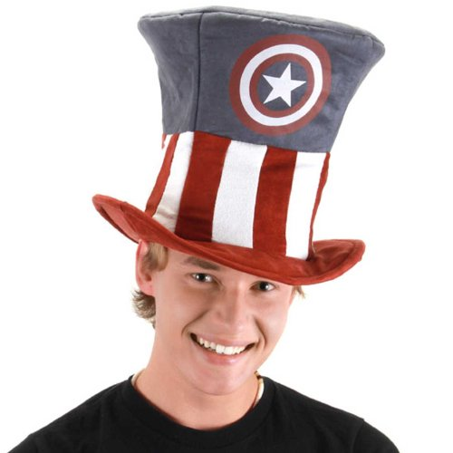 elope Men's Captain America Mad Hatter Hat, Blue, One Size