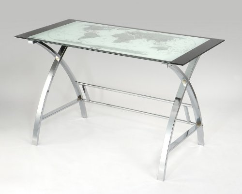 Buy Low Price Comfortable Powell World Map Computer Office Table (B004HKFH7K)