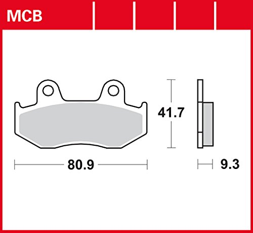 Bremsbelag-Lucas-MCB685-fr-Honda-Dylan-125-JF10-Honda-PS-125-JF17-Honda-Spacy-CH-125-JF03-Suzuki-Burgman-250-AN1211-Vergaser-Suzuki-Burgman-400-AU1211-Yamaha-YFZ