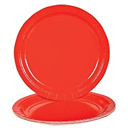 Lot Of 25 Red Paper Lunch Dinner Party Plates - 9