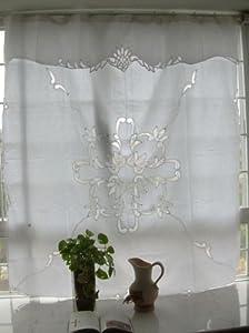 vintage battenburg lace white cotton shower curtain. Black Bedroom Furniture Sets. Home Design Ideas