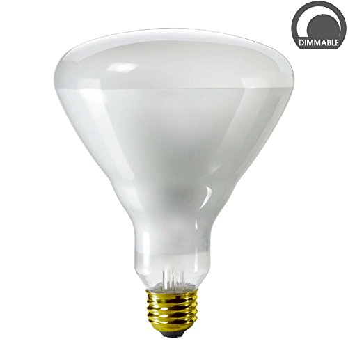 Luxrite LR20890 (12-Pack) 65-Watt BR40 Incandescent Flood Light Bulb, Dimmable, Frosted Finish, 500 Lumens, E26 Base (Br40 Bulb Halogen compare prices)