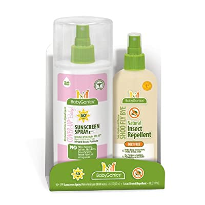 Best Cheap Deal for Babyganics Mineral-Based Baby Sunscreen Spray SPF 50, 6oz Spray Bottle + Natural Insect Repellent 6oz Spray Bottle Combo Pack from Babyganics - Free 2 Day Shipping Available