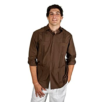 Long Sleeve cotton blend Guayabera