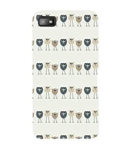 EPICCASE Queue of birds Mobile Back Case Cover For BlackBerry Z10 (Designer Case)