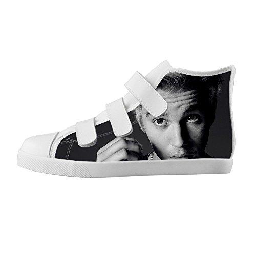 TD^^MM Custom Singer star Justin Bieber Boy's High-top Canvas Shoes Footwear Sneakers Flat Shoes (Justin Bieber Shoes For Boys compare prices)