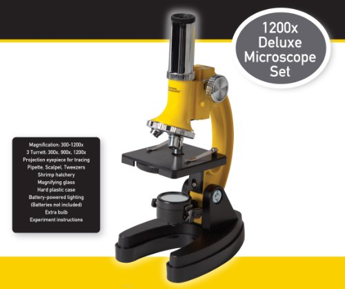 National Geographic Series 1200X Microscope Set