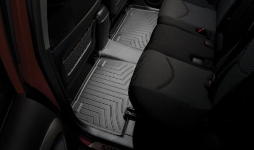 WeatherTech - 443412 - 2011 Honda Odyssey Black One piece - 2nd and 3rd row coverage FloorLiner (Weathertech 2012 Honda Odyssey compare prices)