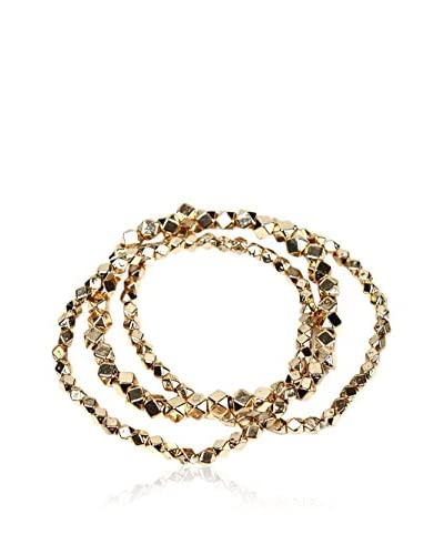 Amrita Singh Pulsera Metallic Bead Stretch