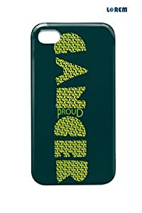 Lorem Back Cover For Apple iPhone 4/4S-Green-L25077