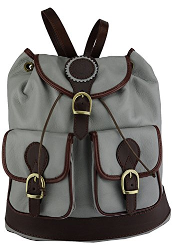 Giulia Women'S Leather Shoulder Bag Backpack Grey