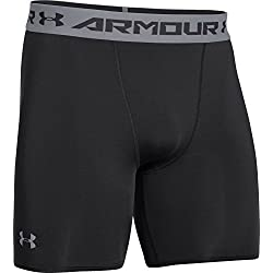 Under Armour Fitness - Shorts Armour HG Comp - Pantalones cortos de fitness para hombre, color negro / gris, talla L