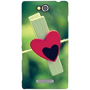 Printland Cute Love Phone Cover For Sony Xperia C