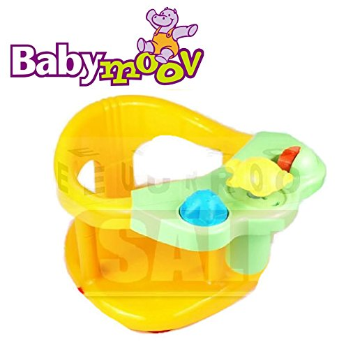 Babymoov Splash Fun Bath Ring Seat Yellow Color Tub