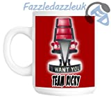 I Want You Red Chair, Team Ricky, The Voice, BBC Novelty Gift Mug