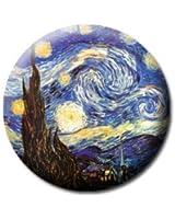 "STARRY NIGHT VINCENT VAN GOGH Art Pinback Button 1.25"" Pin / Badge"