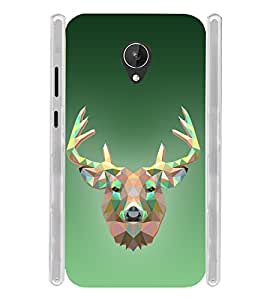 Graphical Deer Soft Silicon Rubberized Back Case Cover for Micromax Canvas Mega 4G Q417