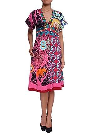 Desigual Damen Kleid Vest Gala, fresa, Gr. XL