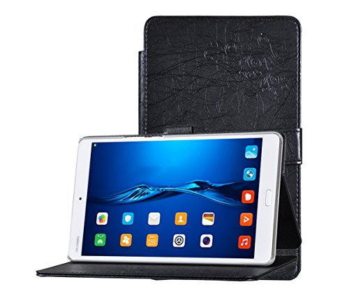 Huawei MediaPad M3 Case, TopAce PU Leather Case With Stand Function For Huawei MediaPad M3 8.4 Inch (Black)
