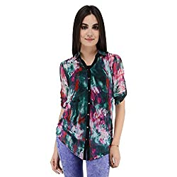 Terquois Printed georgette Shirt (333_Pink_XXL)