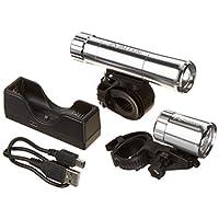 Allen Sports 5W USB Rechargeable Aluminum Light Set, Silver