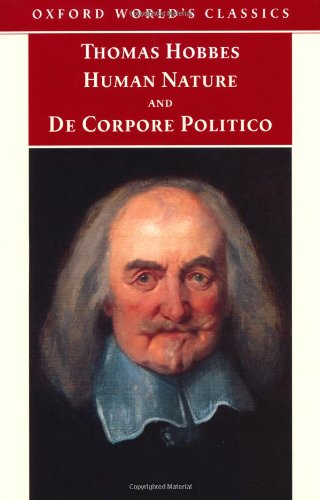 Human Nature and De Corpore Politico (Oxford World's Classics)