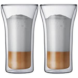 Bodum Assam Double-Wall Cooler/Beer Glass, Set of 2