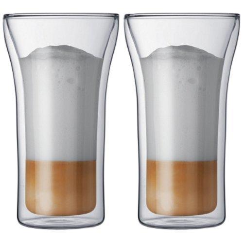 Bodum Assam Double-Wall Cooler/Beer Glass, Set Of 2