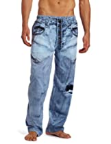 MJC International Mens Generic Faux Denim Pant, Blue, Large