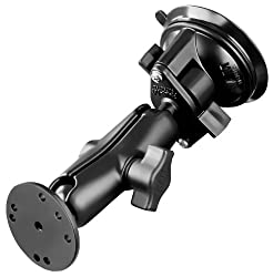 RAM Mounting Systems RAM-B-166-202U RAM Mount Twist Lock Universal Suction Cup Mount with 2.5