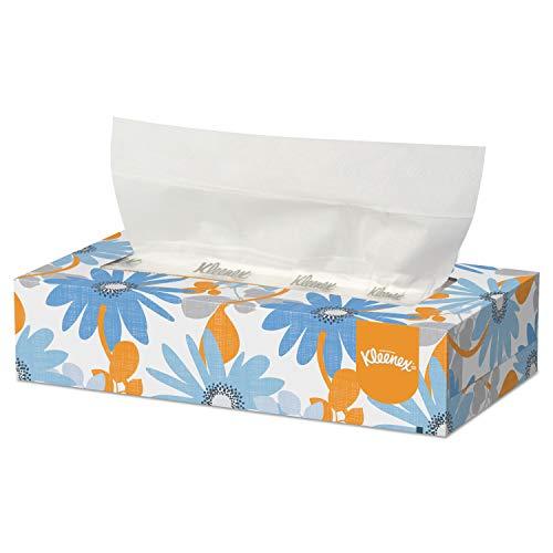 Kleenex 03076 White Facial Tissue, 2-Ply, 125 per Box (Case of 12)