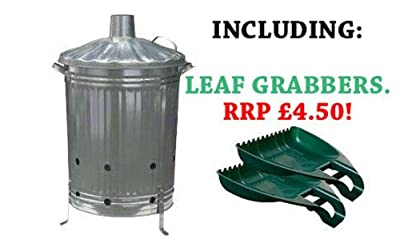 Galvanised Garden Incinerator Fire Bin Good Quality With Leaf Grabbers by PARASENE