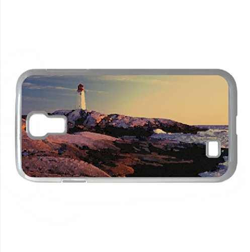 Peggy'S Point Lighthouse, Peggy'S Cove, Nova Scotia Watercolor Style Cover Samsung Galaxy S4 I9500 Case (Nova Scotia Watercolor Style Cover Samsung Galaxy S4 I9500 Case)