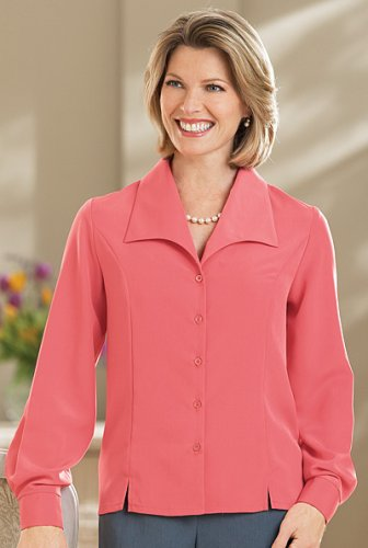 Buy Long Sleeve Peachskin Blouse