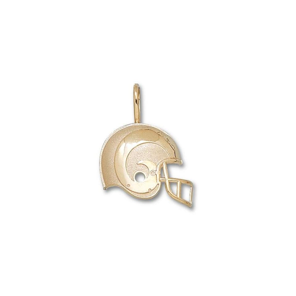 St. Louis Rams Rams Helmet Pendant   14KT Gold Jewelry