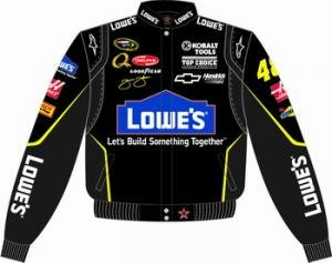 Jimmie Johnson Lowes Black Jacket by RacingGifts